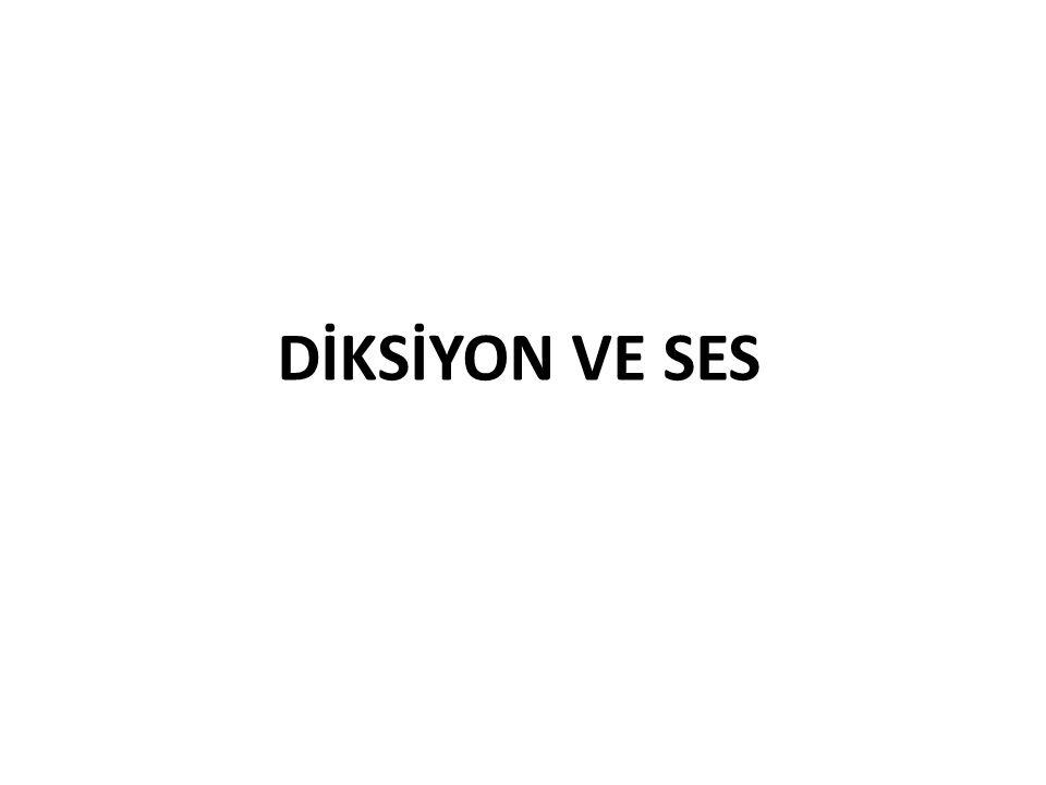 DİKSİYON VE SES