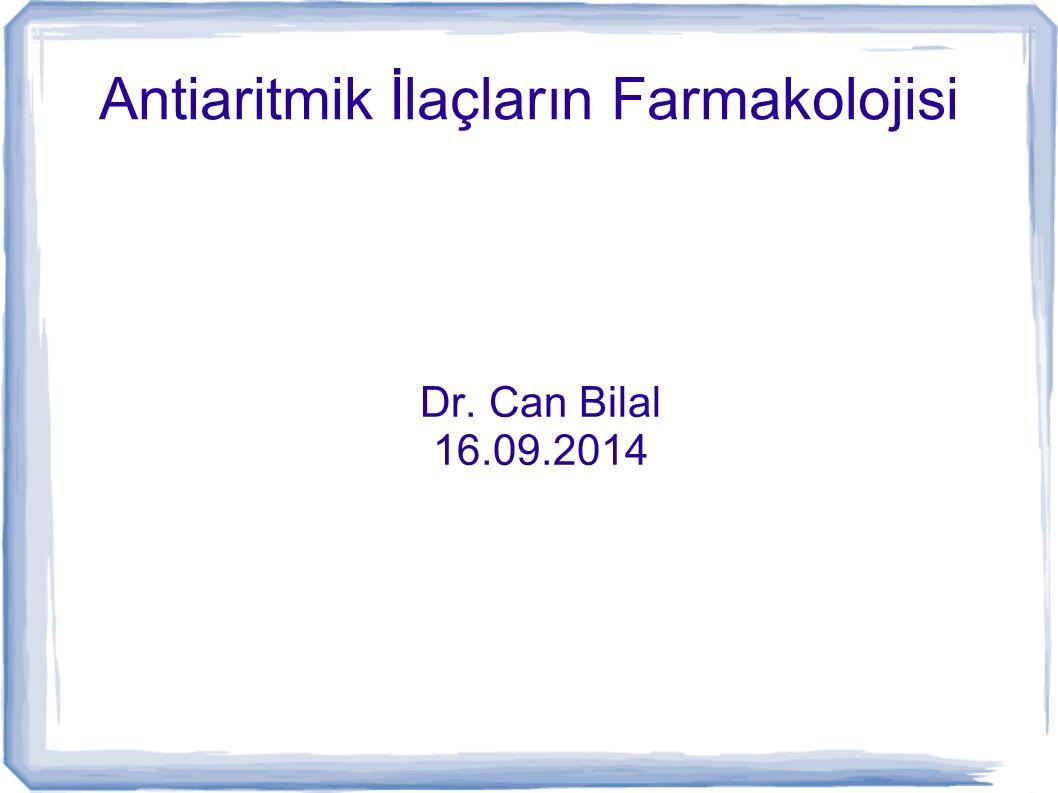 Antiaritmik İlaçların Farmakolojisi