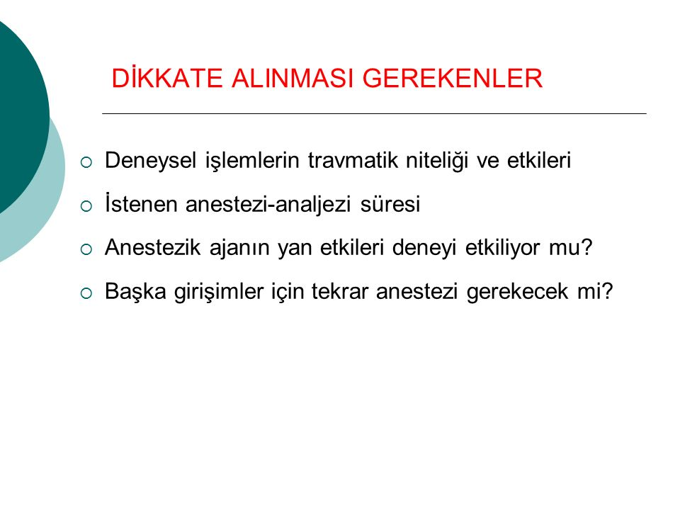 DİKKATE ALINMASI GEREKENLER