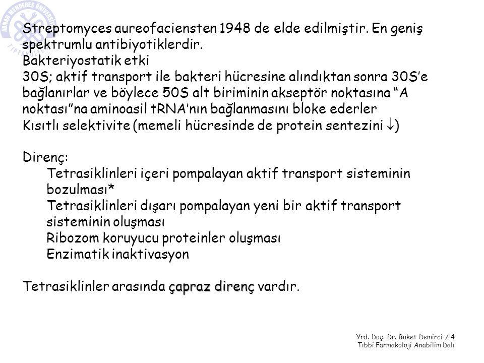Streptomyces aureofaciensten 1948 de elde edilmiştir