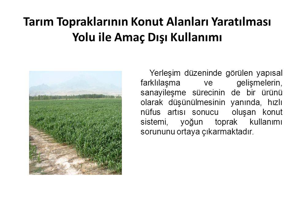 Tarım Topraklarının Konut Alanları Yaratılması Yolu ile Amaç Dışı Kullanımı