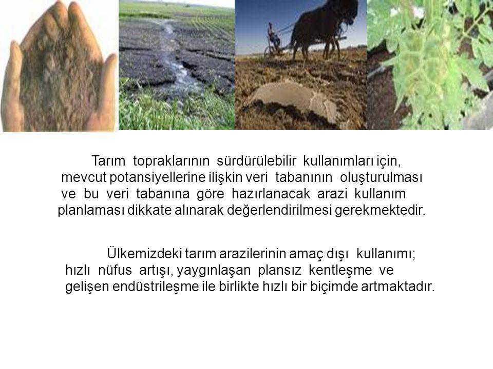 Tarım topraklarının sürdürülebilir kullanımları için,