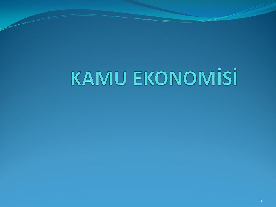 KAMU EKONOMİSİ