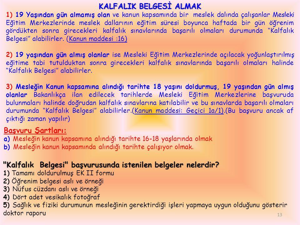 KALFALIK BELGESİ ALMAK