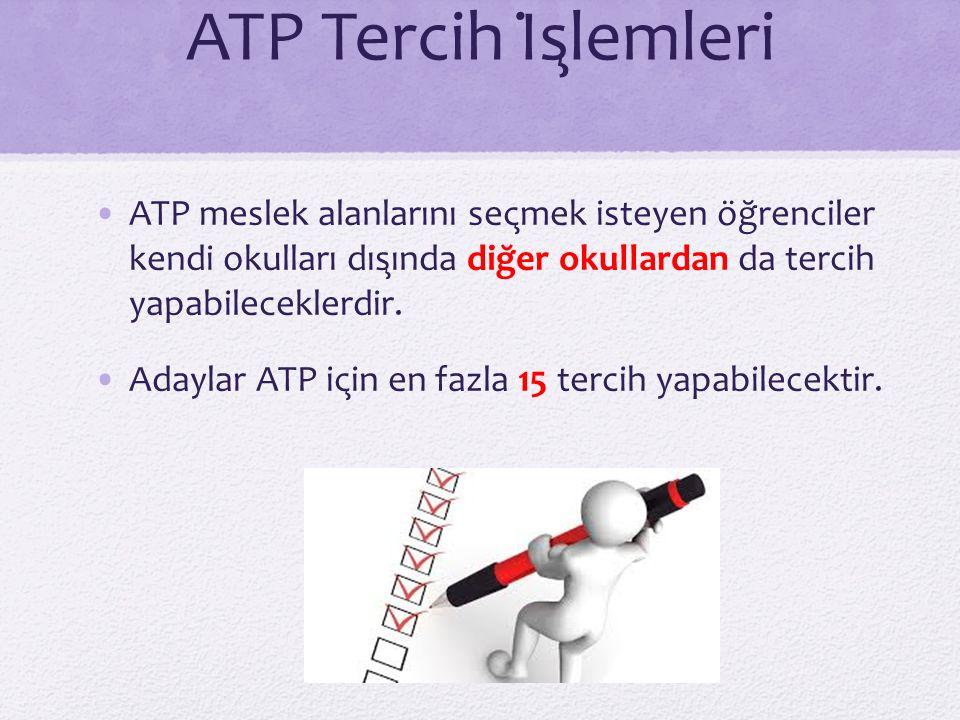 ATP Tercih İşlemleri