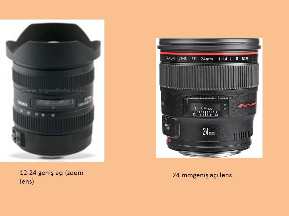 12-24 geniş açı (zoom lens) 24 mmgeniş açı lens