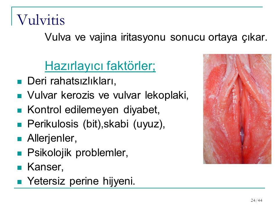 Vulvitis Hazırlayıcı faktörler;