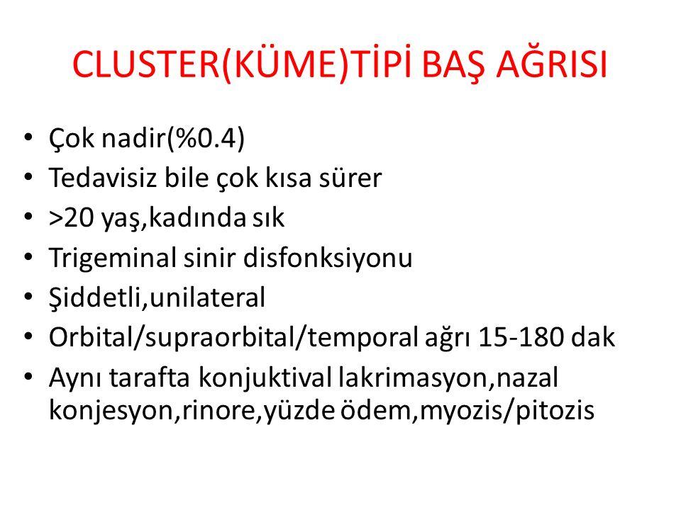 CLUSTER(KÜME)TİPİ BAŞ AĞRISI