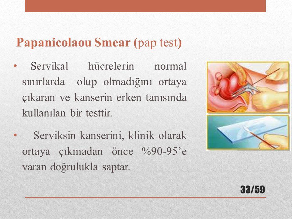 Papanicolaou Smear (pap test)