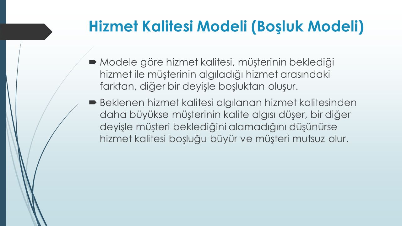 Hizmet Kalitesi Modeli (Boşluk Modeli)