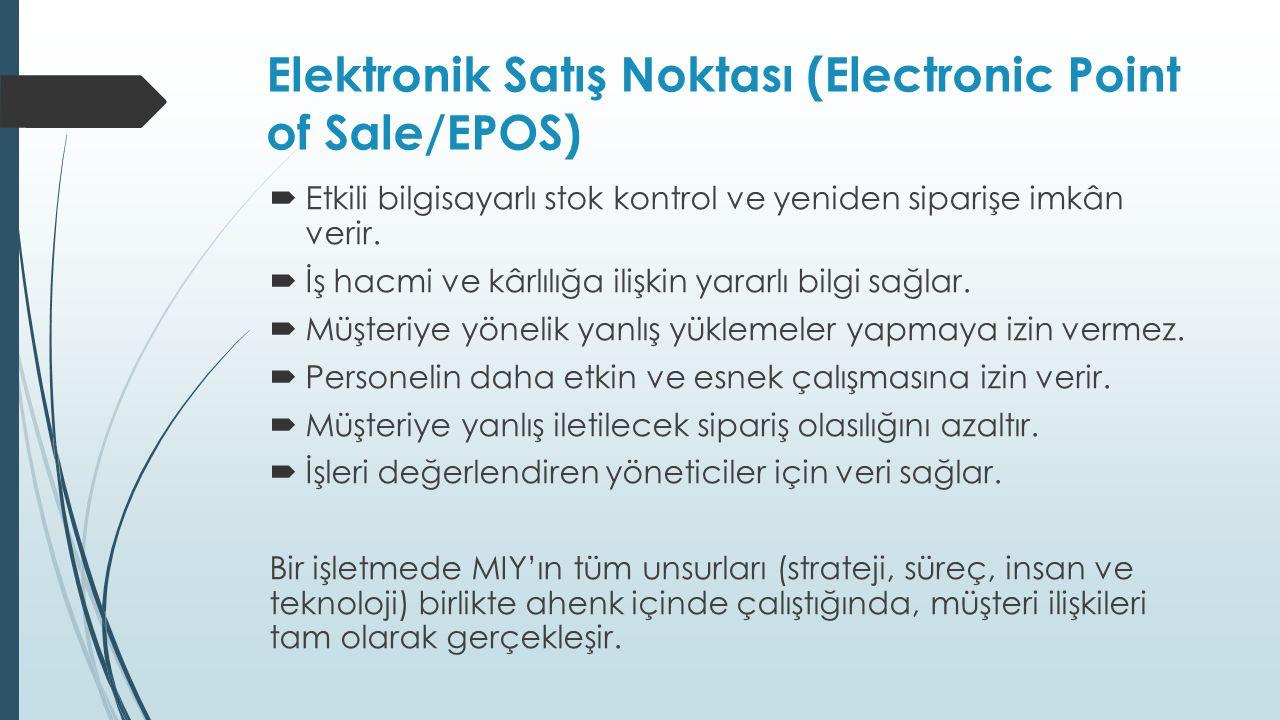 Elektronik Satış Noktası (Electronic Point of Sale/EPOS)