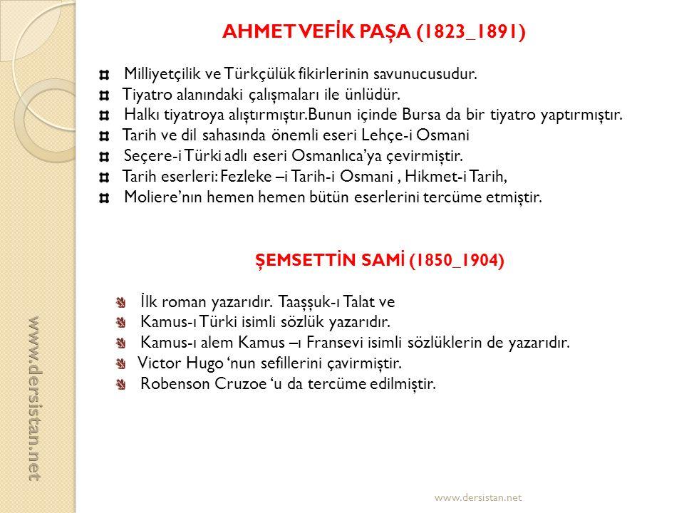 AHMET VEFİK PAŞA (1823_1891) www.dersistan.net