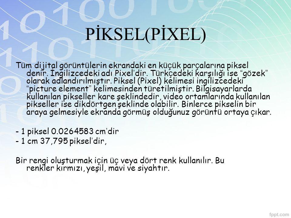 PİKSEL(PİXEL)