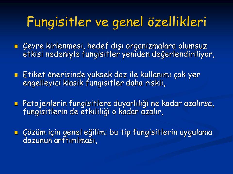 Fungisitler ve genel özellikleri