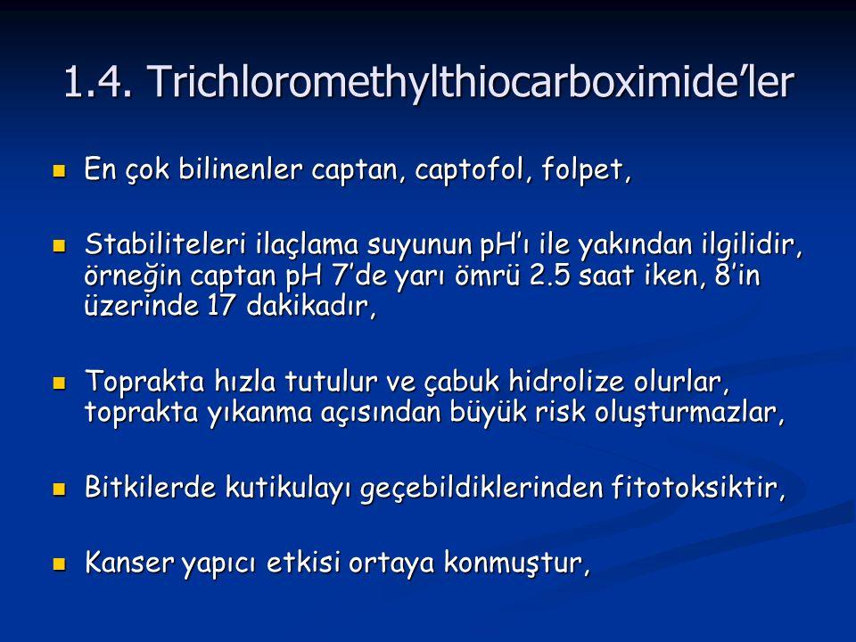 1.4. Trichloromethylthiocarboximide'ler