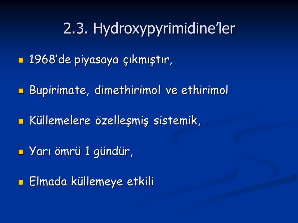 2.3. Hydroxypyrimidine'ler