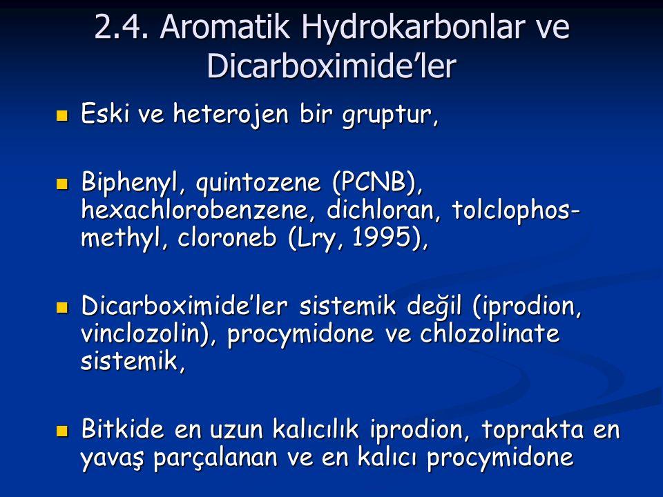 2.4. Aromatik Hydrokarbonlar ve Dicarboximide'ler