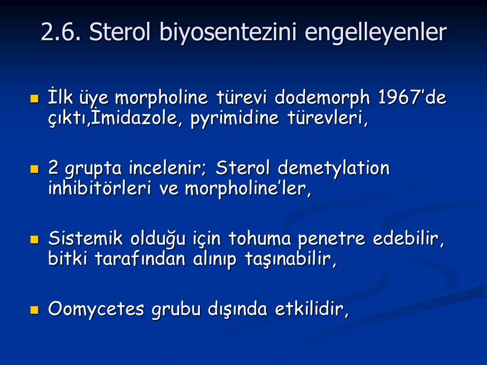 2.6. Sterol biyosentezini engelleyenler