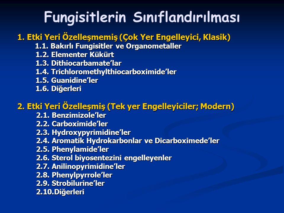 Fungisitlerin Sınıflandırılması