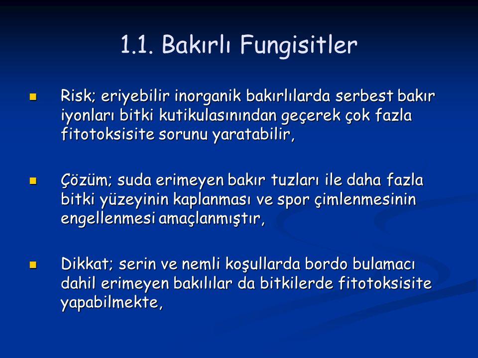 1.1. Bakırlı Fungisitler