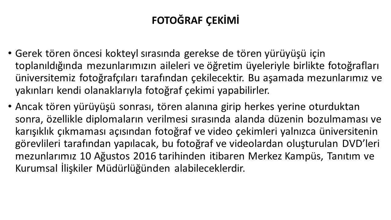 FOTOĞRAF ÇEKİMİ