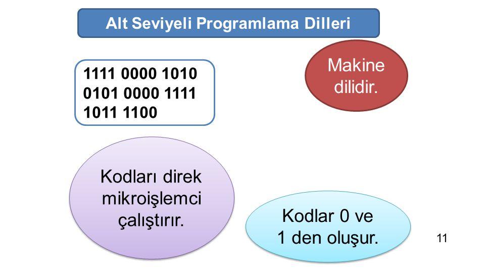 Alt Seviyeli Programlama Dilleri
