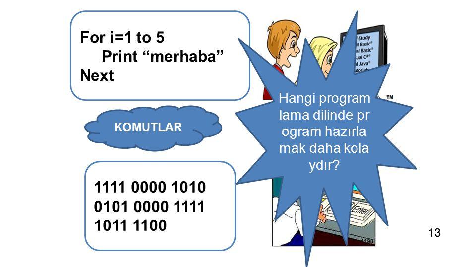 Hangi programlama dilinde program hazırlamak daha kolaydır