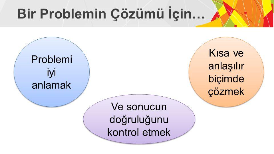 Bir Problemin Çözümü İçin…