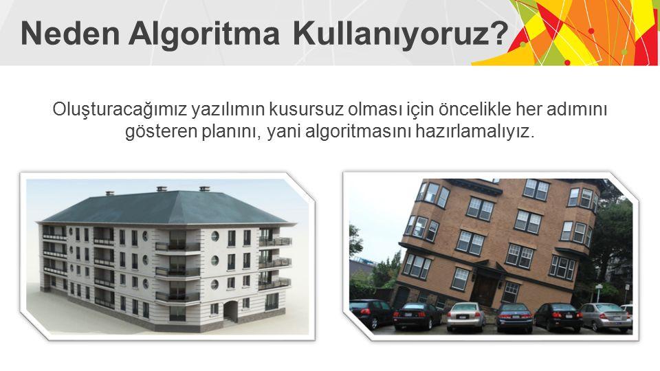 Neden Algoritma Kullanıyoruz