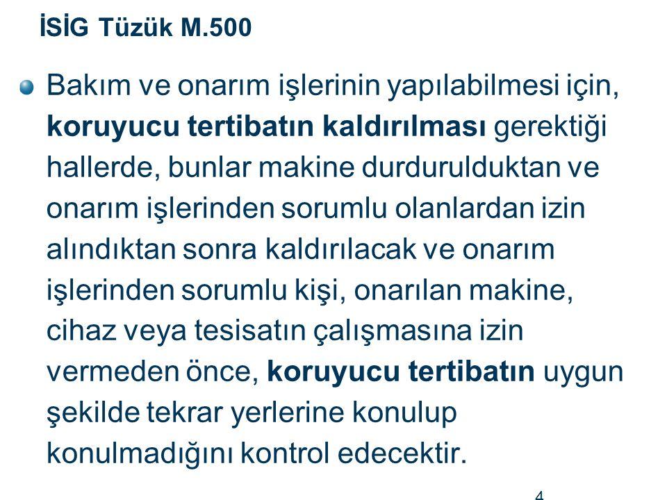 İSİG Tüzük M.500