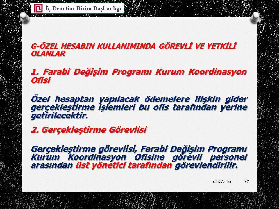 1. Farabi Değişim Programı Kurum Koordinasyon Ofisi