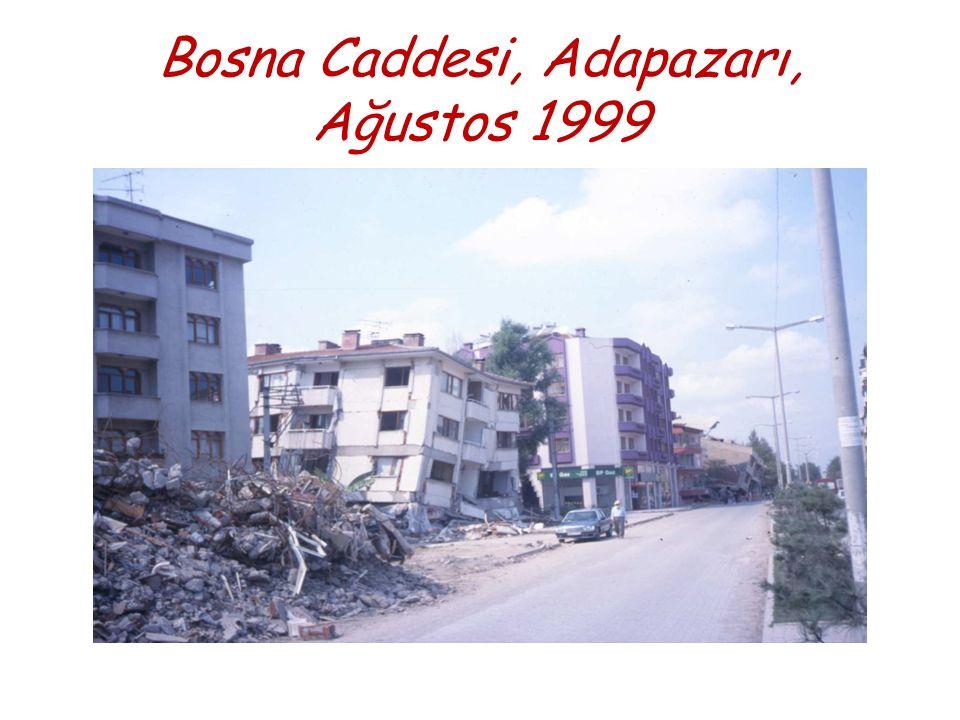 Bosna Caddesi, Adapazarı, Ağustos 1999