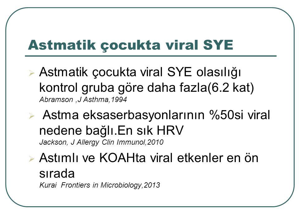 Astmatik çocukta viral SYE