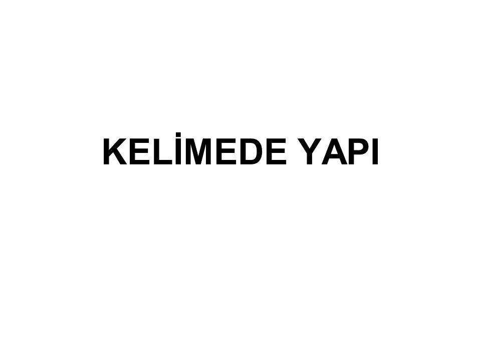 KELİMEDE YAPI