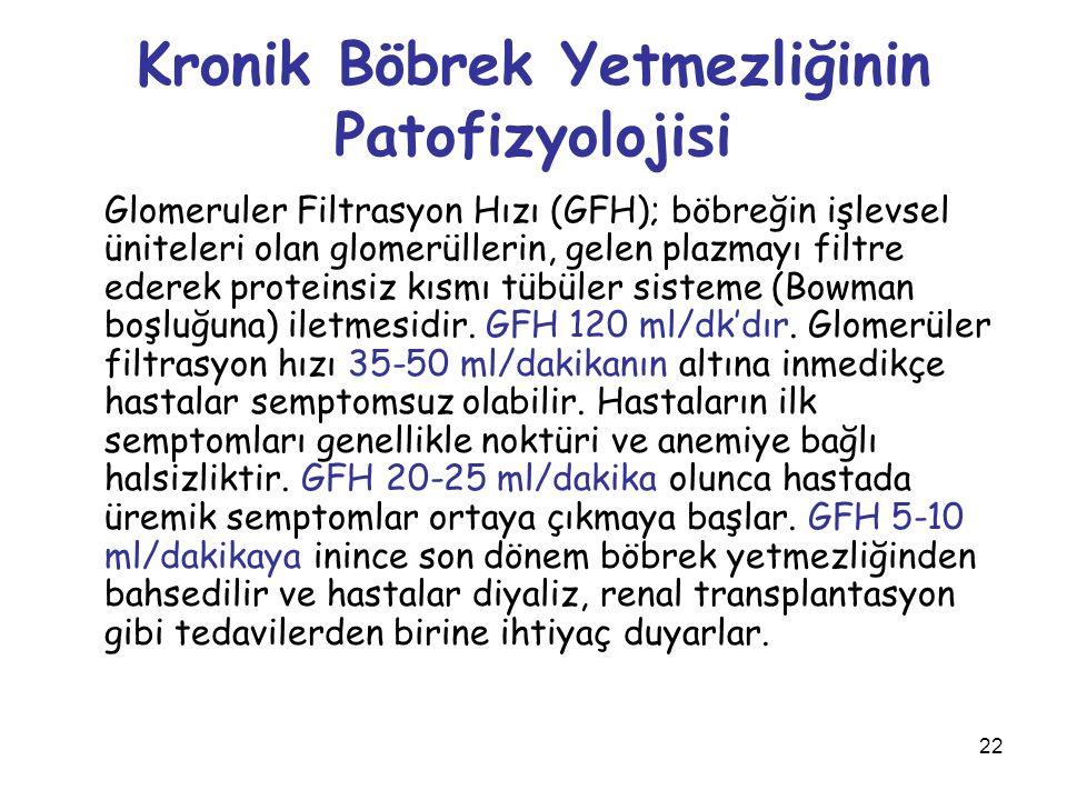 Kronik Böbrek Yetmezliğinin Patofizyolojisi