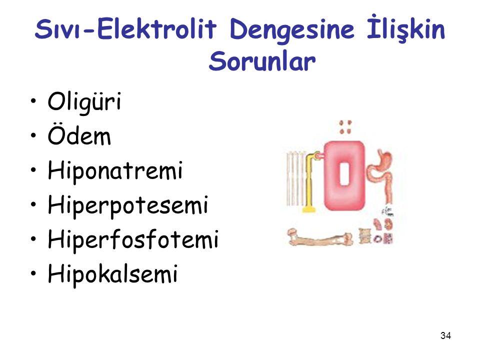 Sıvı-Elektrolit Dengesine İlişkin Sorunlar