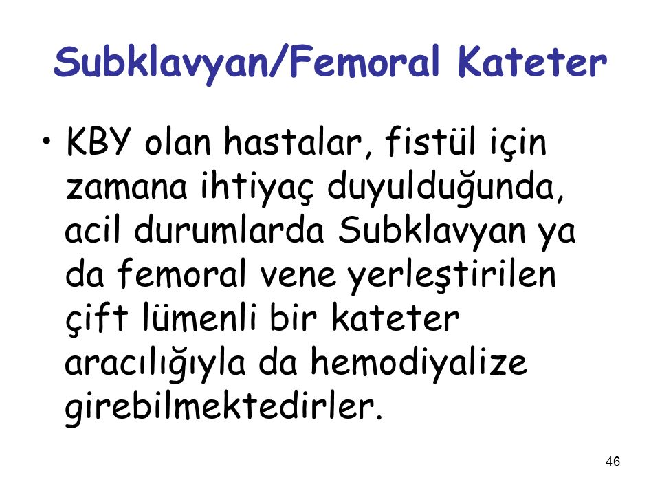 Subklavyan/Femoral Kateter