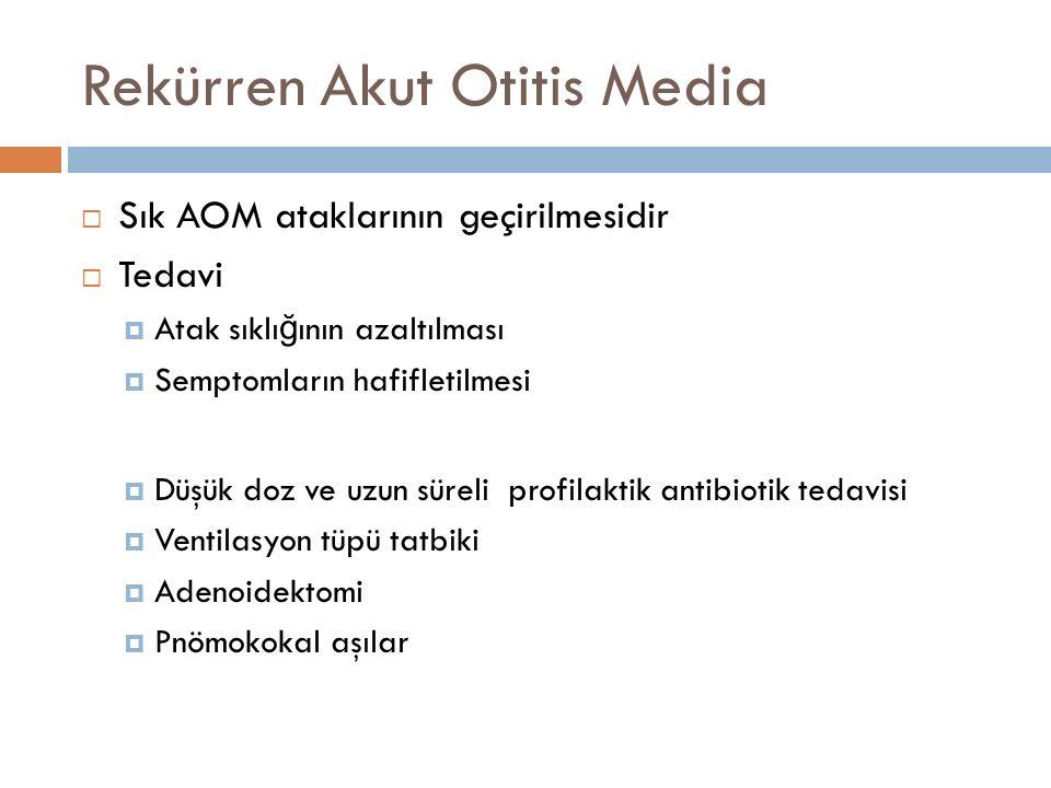 Rekürren Akut Otitis Media