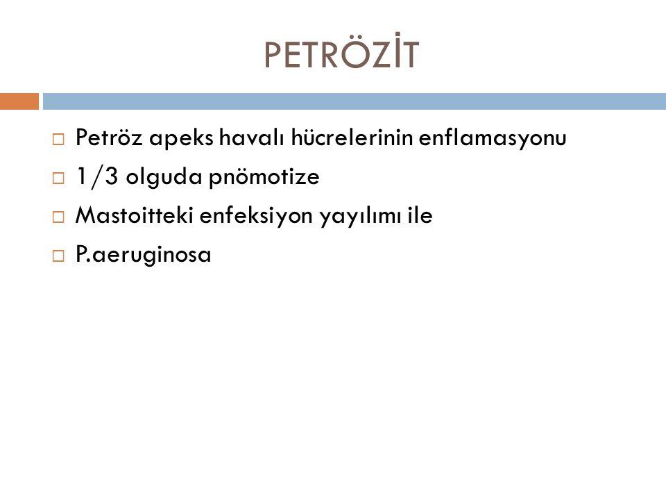 PETRÖZİT Petröz apeks havalı hücrelerinin enflamasyonu