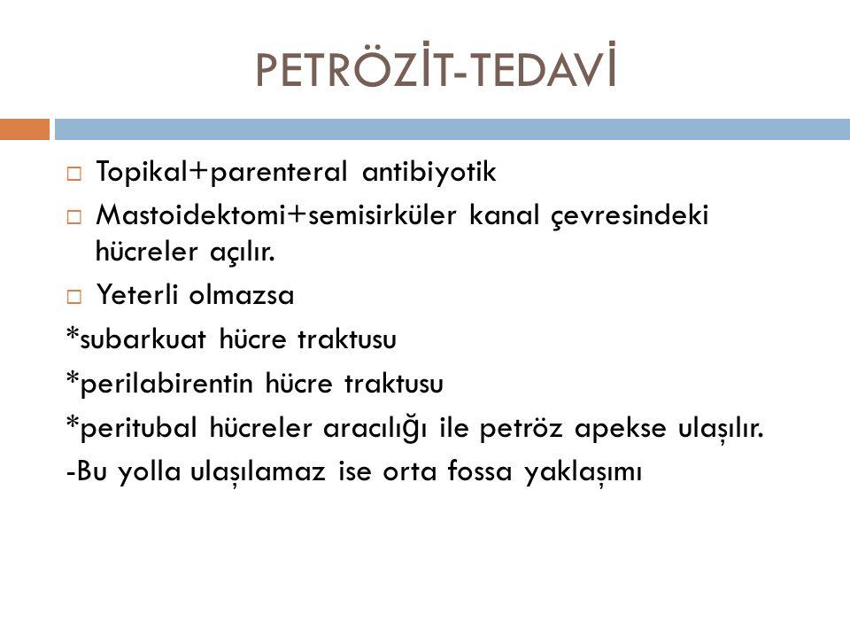PETRÖZİT-TEDAVİ Topikal+parenteral antibiyotik