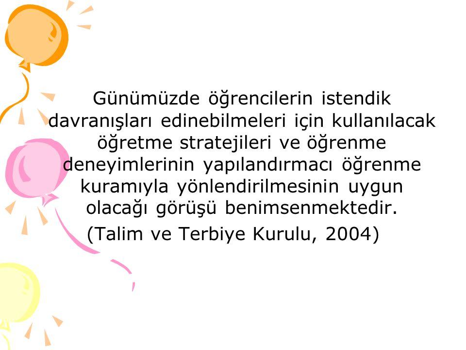 (Talim ve Terbiye Kurulu, 2004)