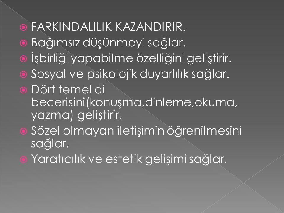 FARKINDALILIK KAZANDIRIR.