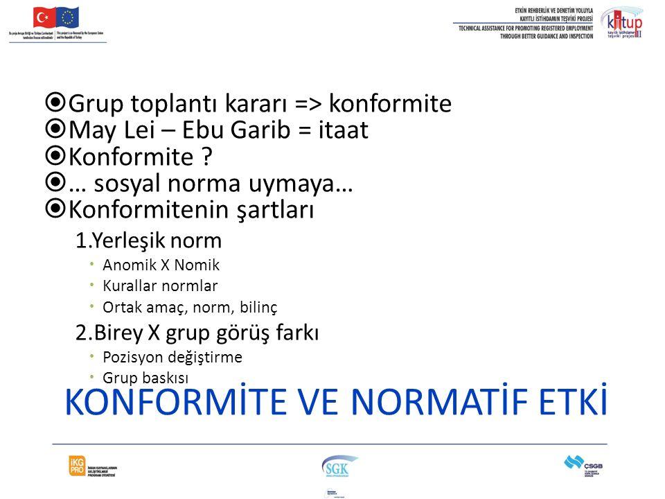 KONFORMİTE VE NORMATİF ETKİ