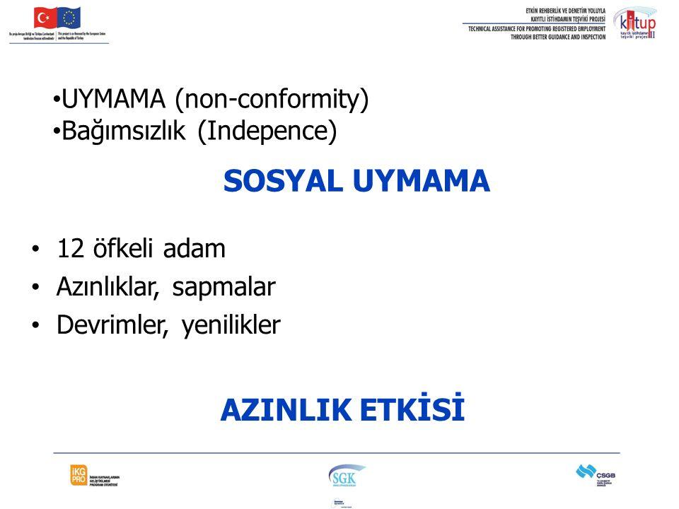 SOSYAL UYMAMA AZINLIK ETKİSİ UYMAMA (non-conformity)