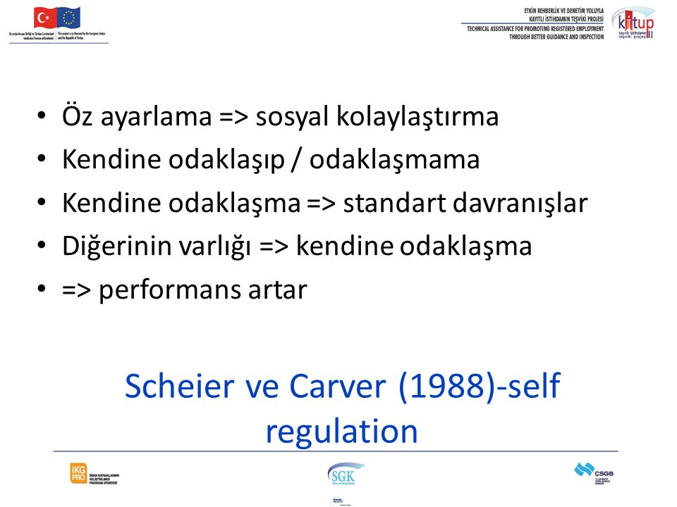 Scheier ve Carver (1988)-self regulation