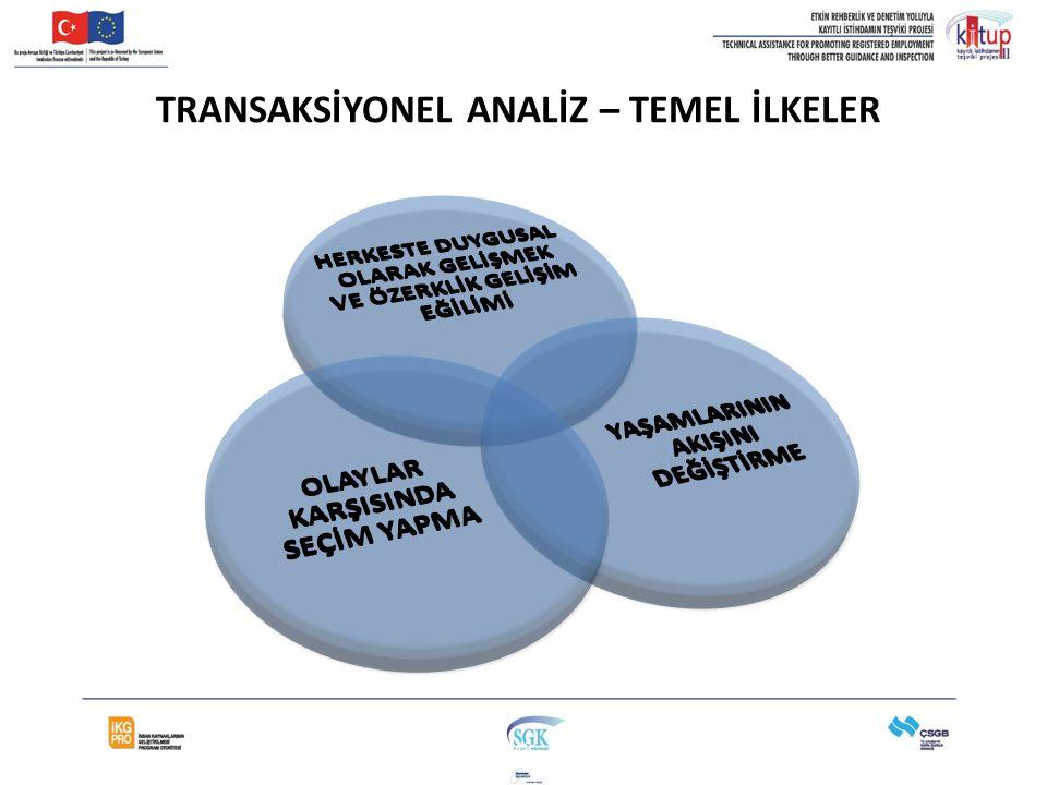 TRANSAKSİYONEL ANALİZ – TEMEL İLKELER