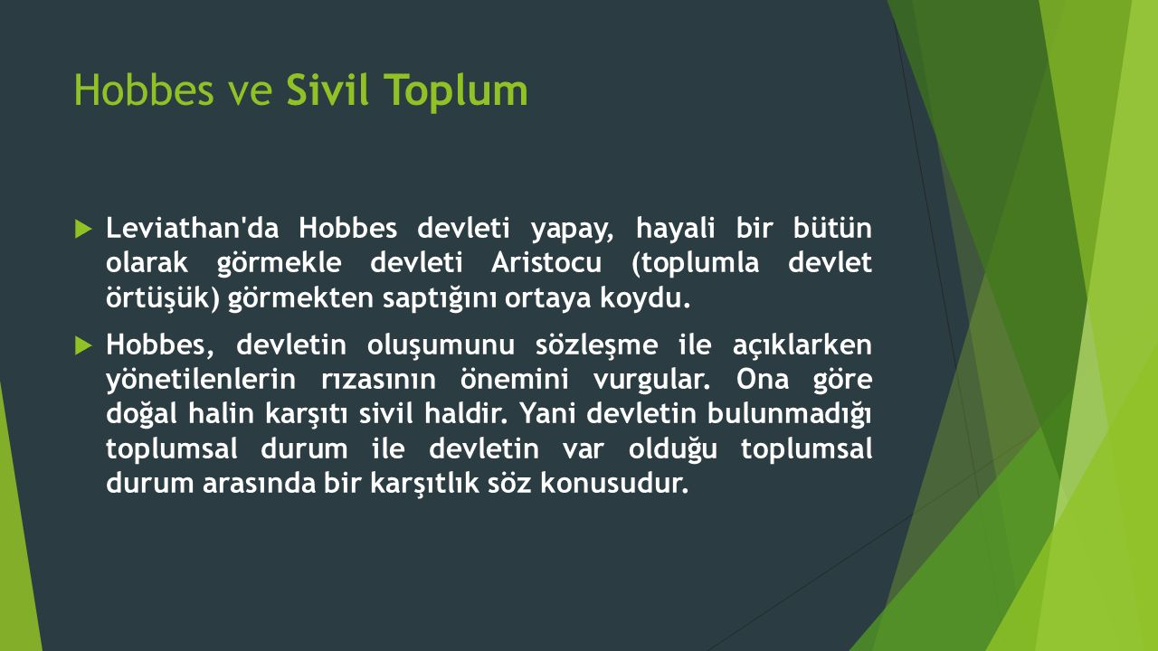Hobbes ve Sivil Toplum
