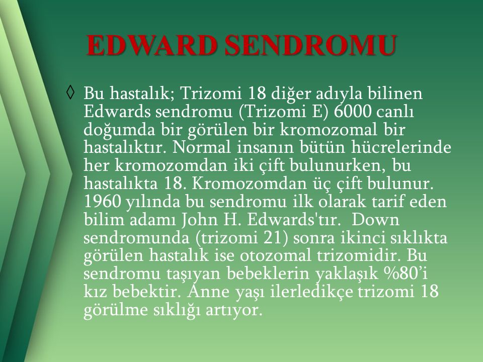 EDWARD SENDROMU