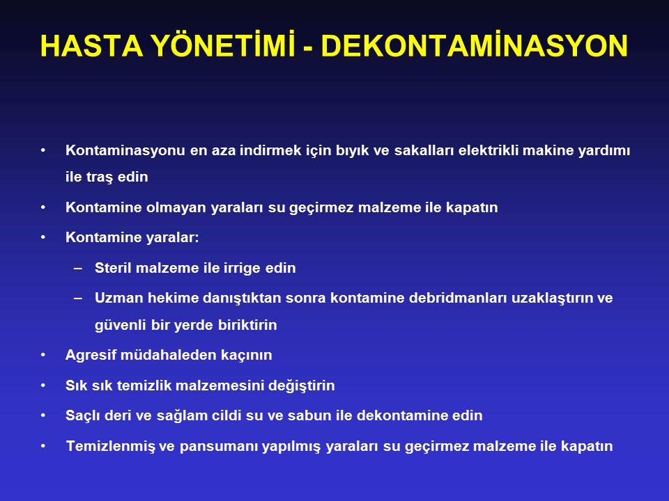 HASTA YÖNETİMİ - DEKONTAMİNASYON