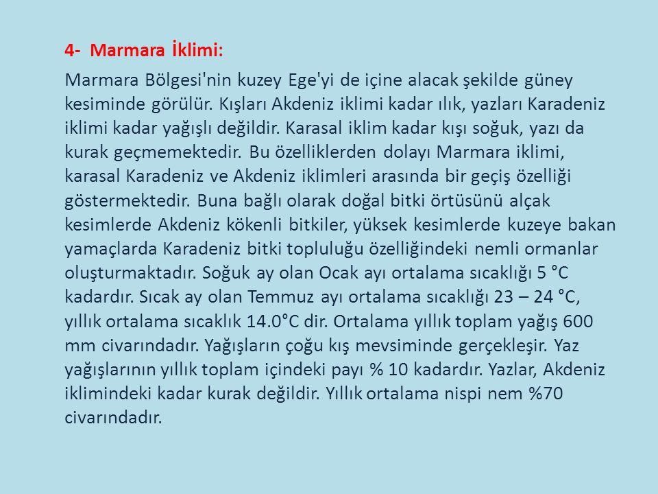 4- Marmara İklimi: